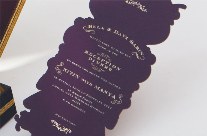 Nitin with Manya Married Cards